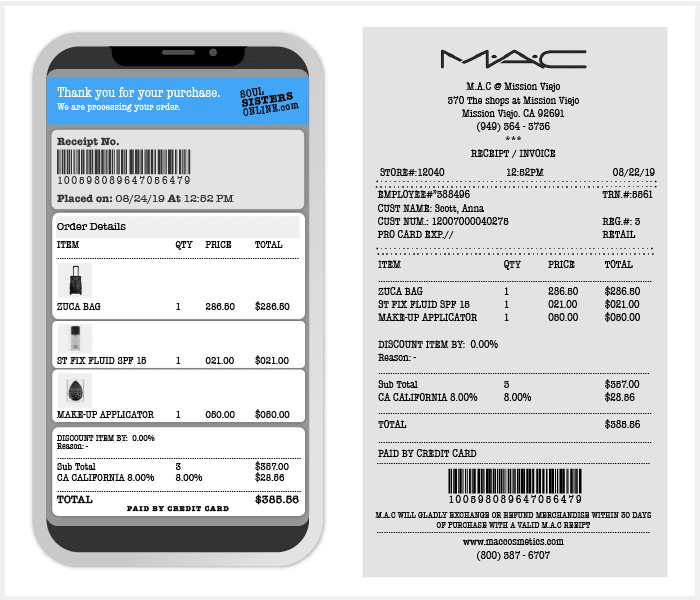 Scan receipts on your phone to earn rewards.